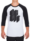 Full Tilt Raglan Longsleeve T-Shirt White/Black