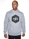 Hex Contact Pullover Hoodie Gray Heather/Black