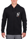 Onward & Upward Zip Hoodie Black/Gray