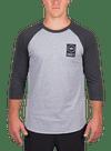 Lock Up Raglan Longsleeve T-Shirt Gray Heather/Charcoal