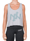 Helix Tonal Flowy Boxy Tank Gray Heather/Gray