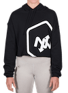 Hex Outline Cropped Hoodie