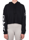 Onnit Branded Cropped Hoodie Black/White