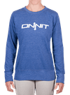 Onnit Type Fitted Crewneck Blue Heather/White