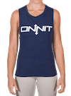Onnit Type Muscle Tee Heather Navy/White