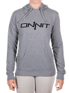 Women's Onnit Type Pullover Hoodie Gray Heather/Black