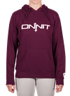 Women's Onnit Type Pullover Hoodie Light Blackberry/White