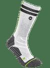 2-Tone Crew Sock Gray Heather/Lime