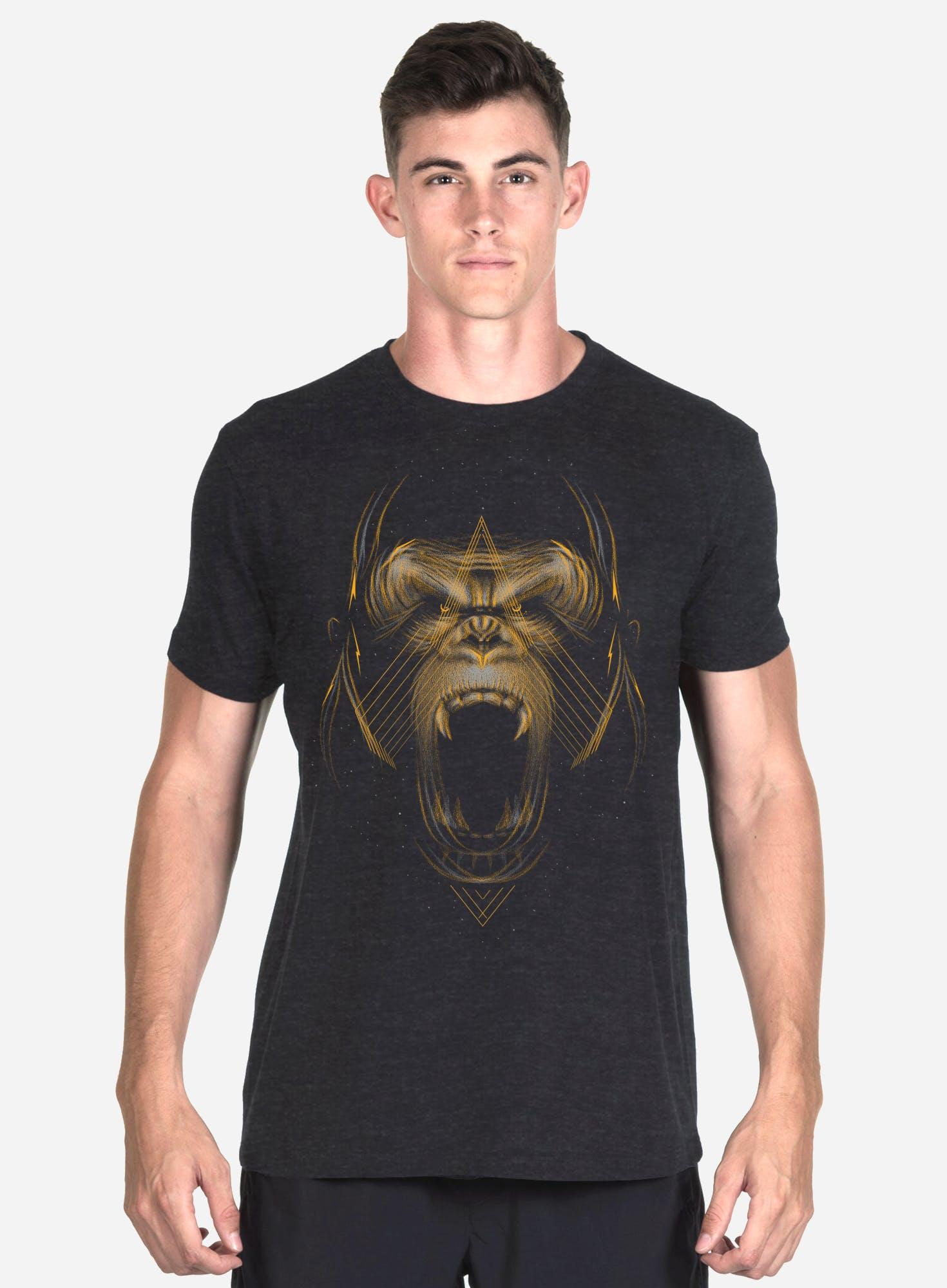 Golden Gorilla Tri-Blend T-Shirt