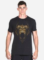 Golden Gorilla Tri-Blend T-Shirt Hero Image