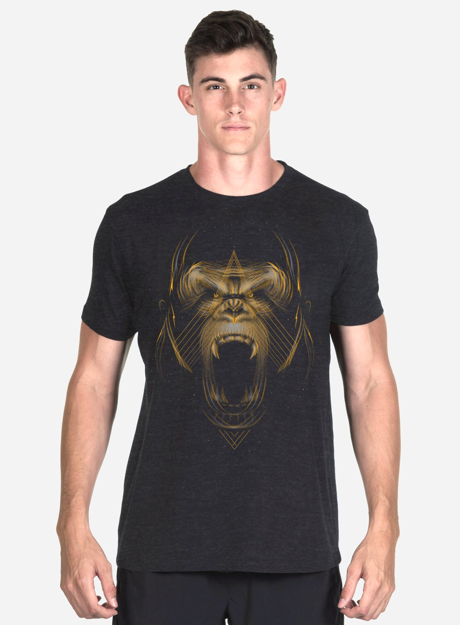 Golden Gorilla Tri-Blend T-Shirt