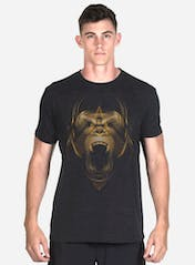 Golden Gorilla Tri-Blend T-Shirt Hero Image