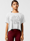Tiger Charge Cropped Tee White/Black