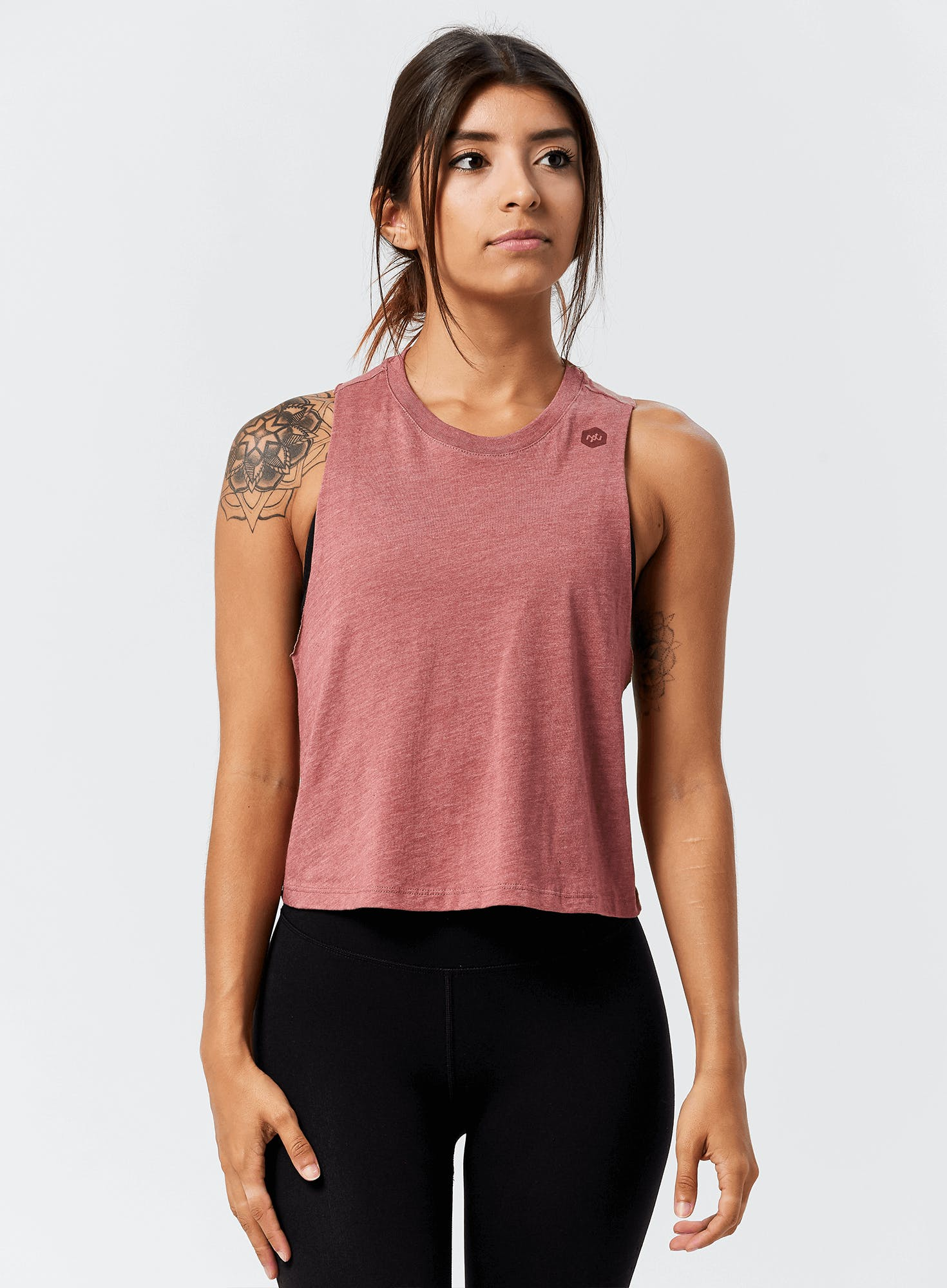 Mini Hex Cropped Racerback Tank