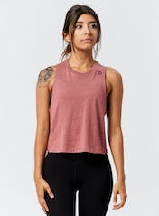 Mini Hex Cropped Racerback Tank Hero Image