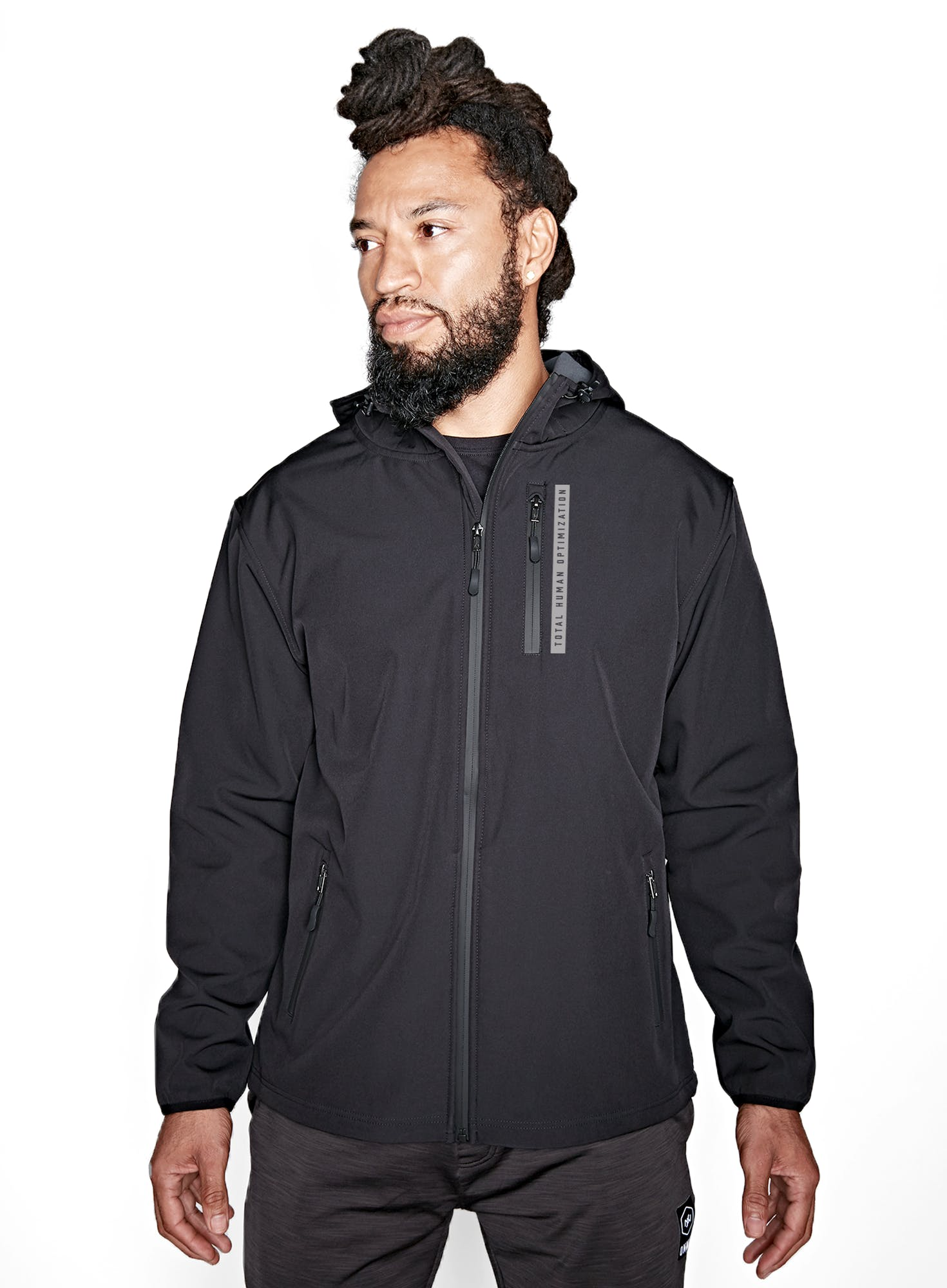Straight Up Soft Shell Zip Jacket