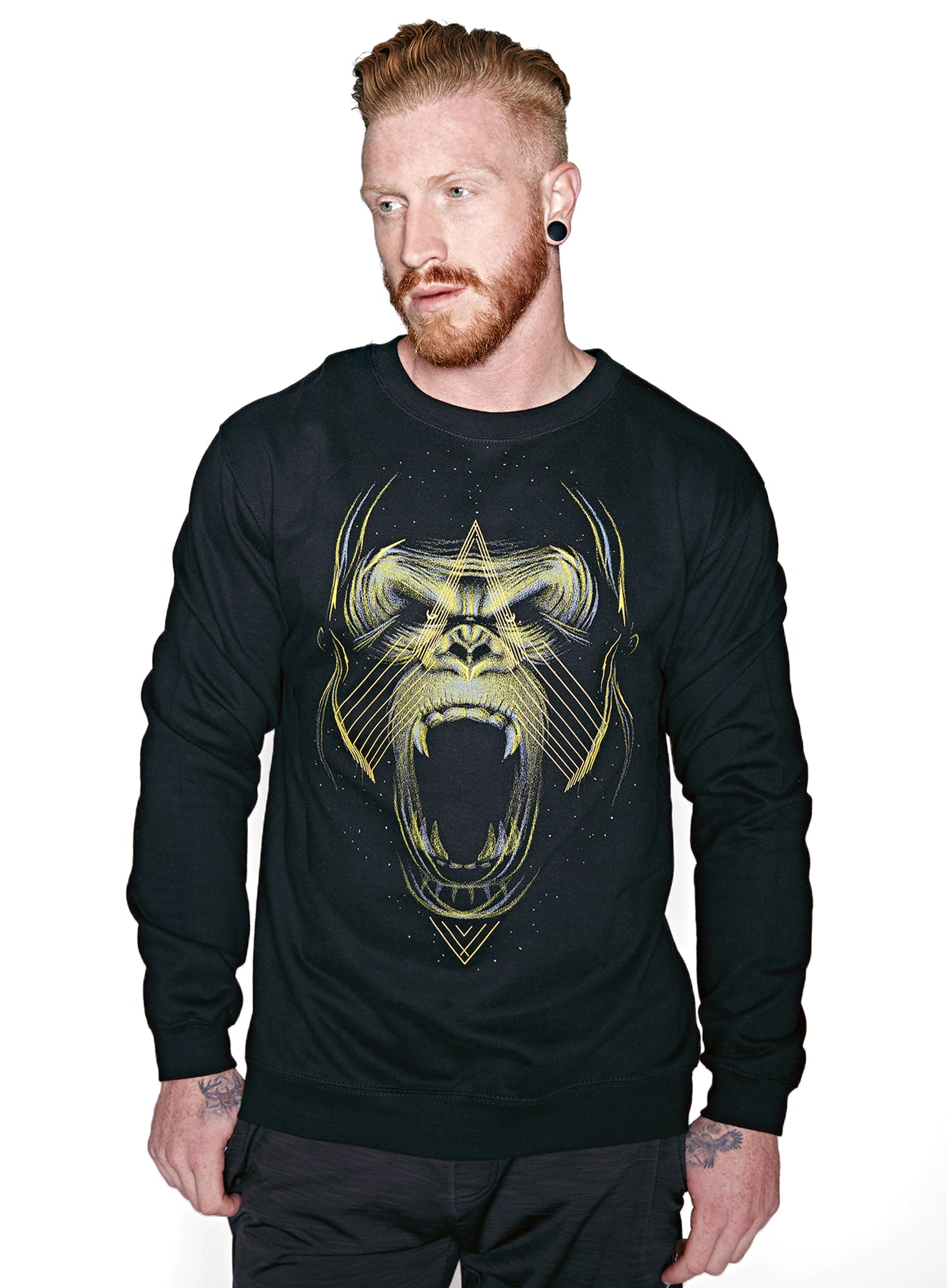 Golden Gorilla Crew Sweatshirt