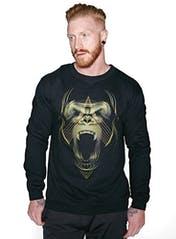 Golden Gorilla Crew Sweatshirt Hero Image