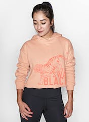 BSY Tiger Crawl Cropped Hoodie Hero Image