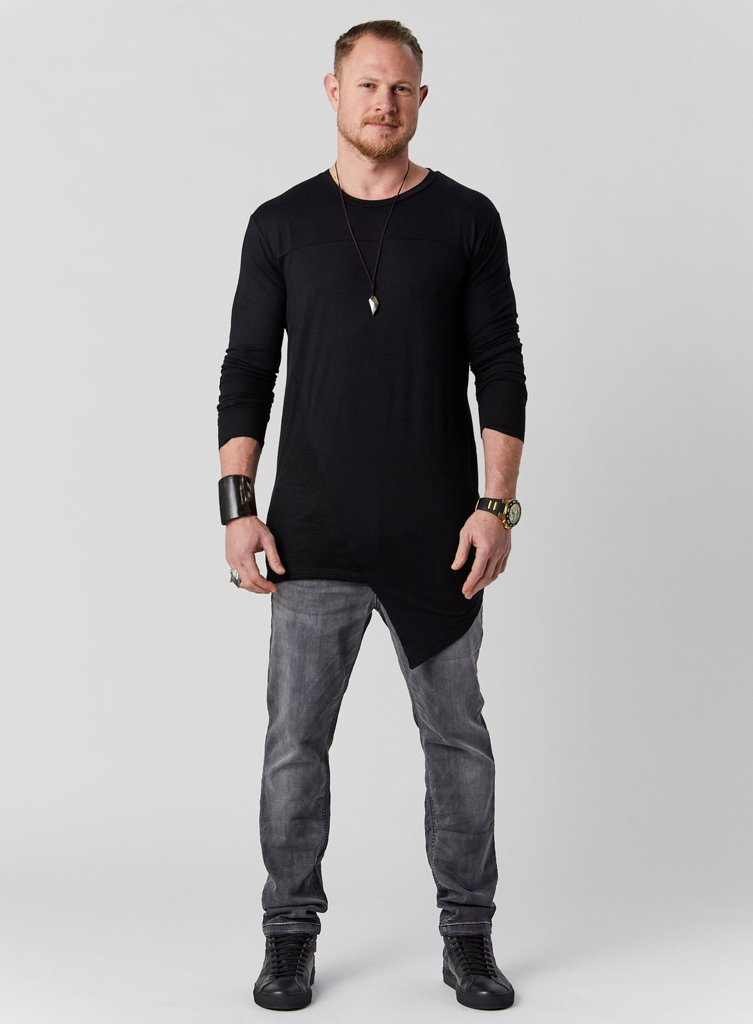 Long Sleeve Asymmetric Tee