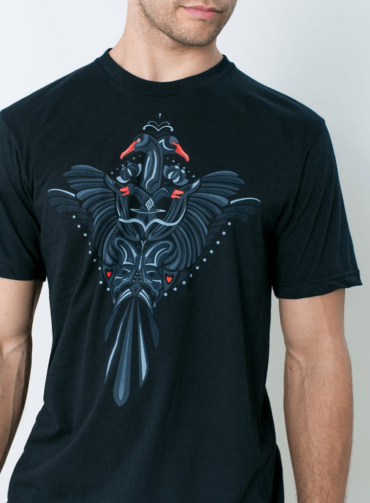 Black Swan Bloom T-Shirt Bonus Image