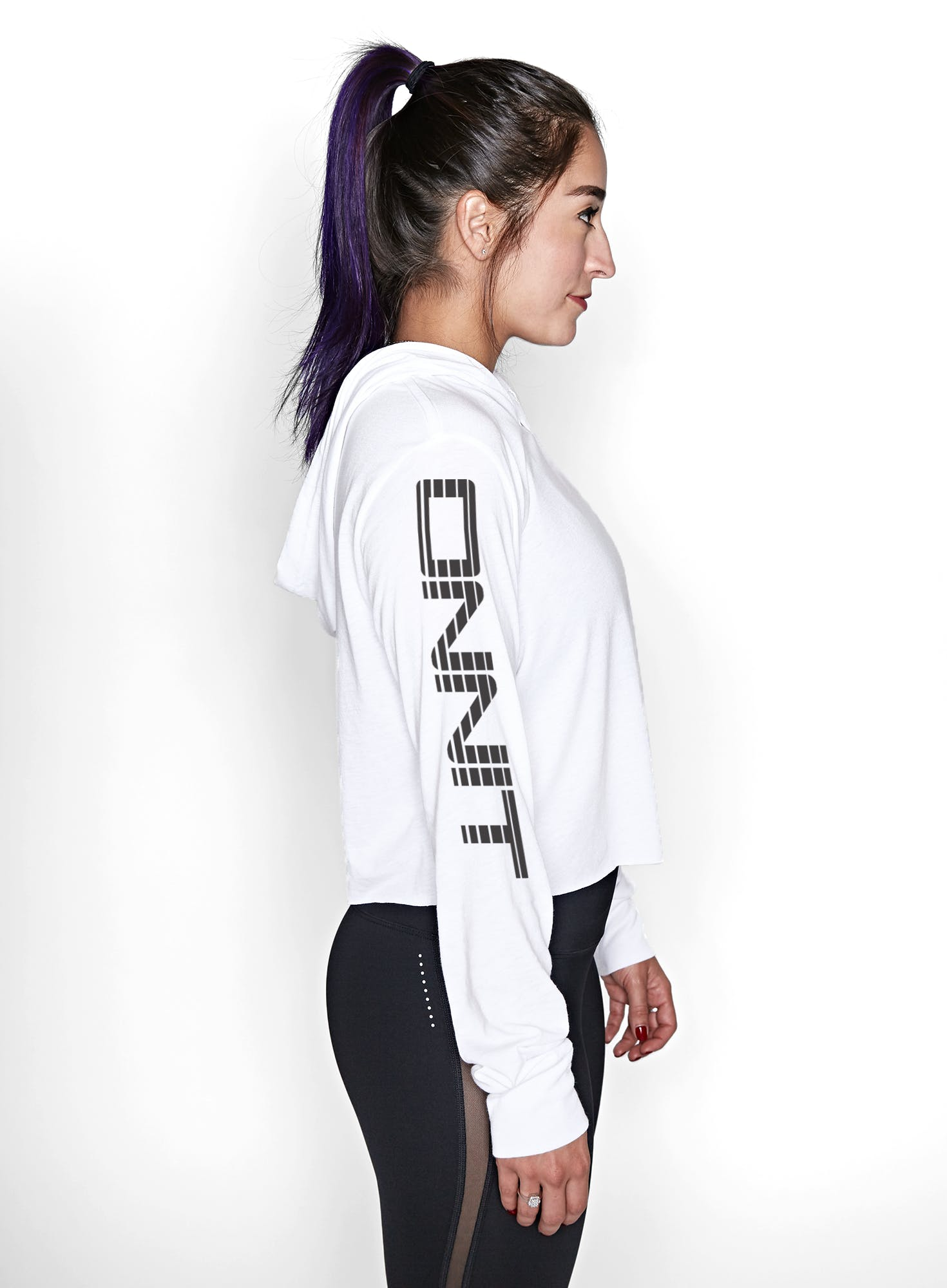 Onnit Linear Cropped Lightweight Hoodie Bonus Image