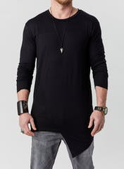Long Sleeve Asymmetric Tee Bonus Image